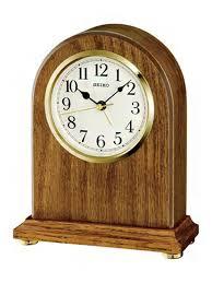 seiko light brown oak wooden mantel
