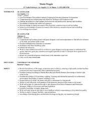 3d Animator Resume Samples Velvet Jobs
