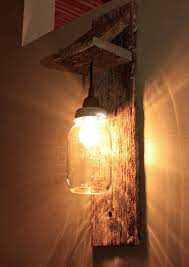 mason jar light wall fixture on would be nice on a deck or patio