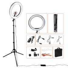 makeup light stand. studio lightings 18\u0027\u0027 55w makeup phone camera photography selfie led diva ring light with stand