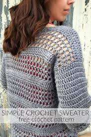 Free Crochet Sweater Patterns New Simple Crochet Sweater Pattern Hooked On Homemade Happiness