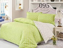 green polka dot twin full queen king size 100 polyester 4 pcs bedding set bedclothes