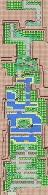A new personal project I'm starting where areas are expanded to give Kanto  a larger feel. This is the first draft for Route 23.: PokemonMaps