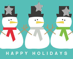 Holidays Snowman Modern Snowmen Happy Holidays Art By Linda Woods Poster By Linda Woods