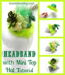headband with mini top hat tutorial