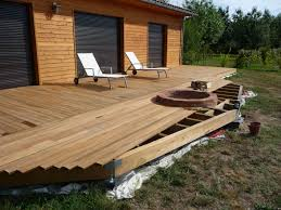 Nivrem Com Construire Une Terrasse En Bois Sur Plots Pvc