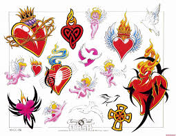 Awesome Heart Designs Awesome Colored Heart Tattoos Designs Tattoo Viewer Com