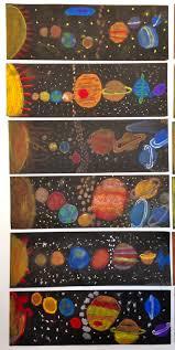 Solar System Activity Ideas: Our Solar System.Science/Art Project Colored  chalk and Q-tips Deborah Gangi-Hall grade.McKinley School Pasadena, CA