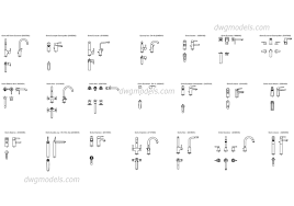 grohe single lever basin mixer dwg cad blocks free