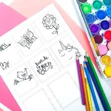 Print And Color Mini Coloring Pages Directions Mini Coloring Pages