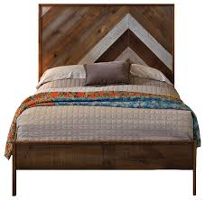 Reclaimed Chevron Bed - Rustic - Panel Beds - by Urban Evolutions