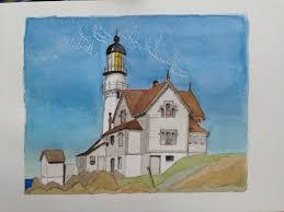 study of captain upton s house edward hopper 1927