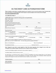 Credit Card Authorization Form Pdf Fillable Beneficial Download