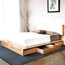 Queen Bed With Storage Underneath White Queen Bed Frame With Storage ...