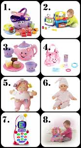 Dolls, tea sets, and other toys make the best gifts for 1 year old BEST Gifts a Year Old Girl! \u2022 The Pinning Mama