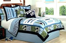 boy twin comforter sets kids bedding set boys bed surf wave quilt childrens s