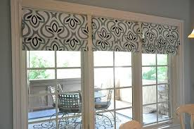 roman shades sliding glass door scalisi architects within for doors plans 1
