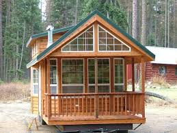 Small Picture Spacious Cabin on Wheels with Large Windows Tiny House Pins