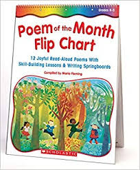 Months Of The Year Chart Book Amazon Com Poem Of The Month Flip Chart 12 Joyful Read