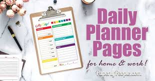 Printable Daily Planner Pages Great For Staples Arc