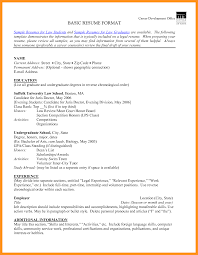 5 Basic Resume Format For Students Scholarship Letter Wallalaf