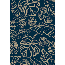 tropical area rugs. Allen + Roth Aveton Navy Rectangular Machine-made Tropical Area Rug (Common: 8 Rugs