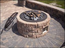 paver patio with fire pit. Industrial Interlocking Paver Lot, Lot Patio With Fire Pit R