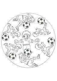 Kleurplaat Mandala Kleurplaten 5179 Voetbal Mandalas Voetbal