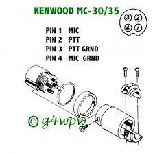 Image result for 4-pin mic socket  kenwood