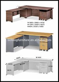 Good Office Desk Materials Modern Korean Office Desk/computer Desk Table  MDF Materials