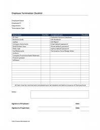 Wonderful Employee Termination Checklist Word Template Sample