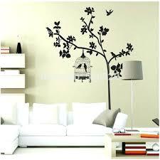 black wall art stickers 1 removable vinyl art decal home decor bedroom wall art black wall