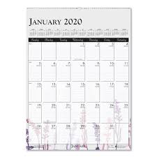 Group Planning Calendar 100 Recycled Wild Flower Wall Calendar 12 X 16 1 2 Wild Flowers 2020