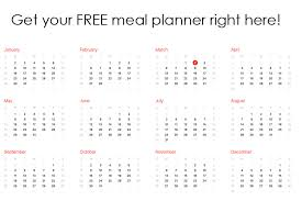 Clean Eating Meal Planning Chart Meal Planner Free The Gracious Pantry