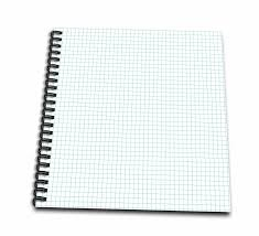 3drose Blue And White Graph Paper Effect Memory Book 12 By 12 Inch