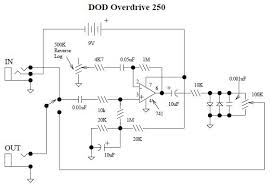 dod overdrive preamp 250 schematic design
