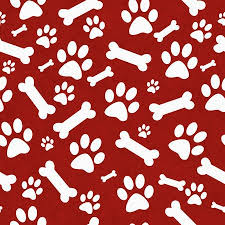 red dog bone background. Brilliant Bone Red And White Dog Paw Prints Bones Tile Pattern Repeat Background That  Is Seamless For Bone E