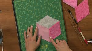 3-Dimensional Quilting | National Quilters Circle & In this session you will learn how to construct a tumbling blocks quilt  pattern. Ashley will show you how to use your template or rulers to mark  your fabric ... Adamdwight.com