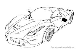 Cars Coloring Page Ferrari Laferrari F150 Letmecolor Com