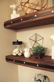 Making Floating Shelves DIY Floating Shelves with Faux Rivets 97