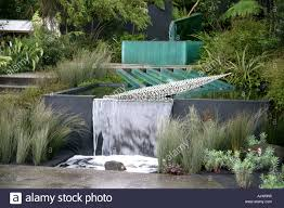 garden water features new zealand. stock photo - water feature in the 100 pure new zealand garden chelsea flower show 2006 features o