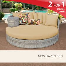 Circular Bed New Haven Circular Sun Bed Outdoor Wicker Patio Furniture