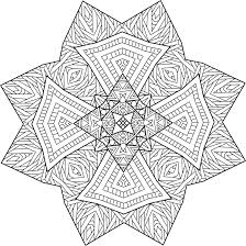 Northern Guide Mandala Coloring Page By