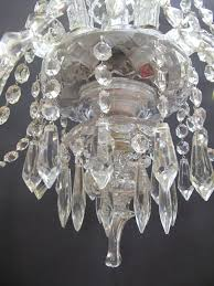 1950s 5 arm glass czech chandelier antique lighting 1950s chandeliers