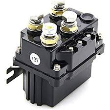 amazon com warn 72631 solenoid replacement automotive 12v 500a winch solenoid relay powder coated finish for atv utv 4x4 truck boat winch contactor rocker switch thumb 12v 500a