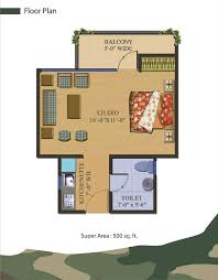 indian house plans for 500 sq ft