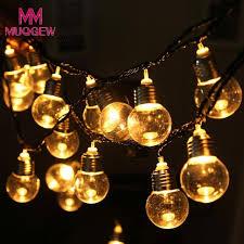 2018 creactive LED Light Bulb Ball String Fairy Lights Bedroom Xmas Wedding  Party LED diy home