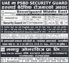 Vacancy For Security Guard