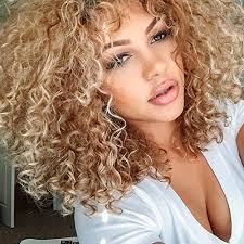 Hairstyle For Women 91 Stunning Top Hair Blonde Synthetic Afro Curly Hair Wig For Black Women Short