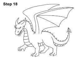 how to draw cool angry mean cartoon dragon 18